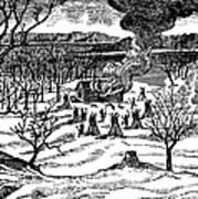 Spirit Lake Massacre, 1857 Art Print