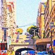 Stockton Street Tunnel In San Francisco Art Print by Wingsdomain Art and Photography