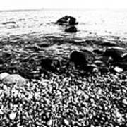 Stones At The Sea Art Print by Falko Follert