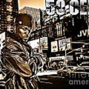 Street Phenomenon 50 Cent Art Print