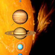Sun And Its Planets Art Print