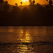 sunset santa Barbara Art Print