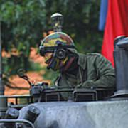 Tank Commander Of A Leopard 1a5 Mbt Art Print