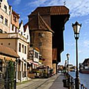 The Crane In Gdansk Art Print