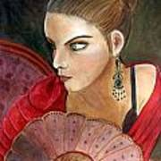 The Flamenco Dancer Art Print by Pilar  Martinez-Byrne