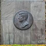 The John F. Kennedy Memorial At Veterans Memorial Park In Hyanni Art Print