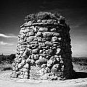 the memorial cairn on Culloden moor battlefield site highlands scotland Art Print