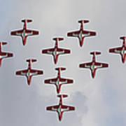 The Snowbirds 431 Air Demonstration Art Print