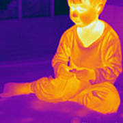 Thermogram Of A Boy Art Print