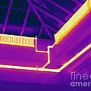 Thermogram Of Steam Pipes Art Print