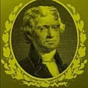 Thomas Jefferson In Yellow Art Print