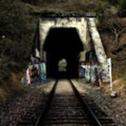 Train Tunnel At The Muir Trestle In Martinez California . 7d10220 Art Print