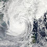 Typhoon Megi Art Print