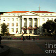 Uc Berkeley . Sproul Hall . Sproul Plaza . Occupy Uc Berkeley . 7d9994 Art Print by Wingsdomain Art and Photography