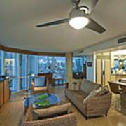 Usa Hi Honolulu Upscale Living Room Art Print by Rob Tilley