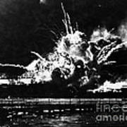 Uss Shaw, Pearl Harbor, December 7, 1941 Art Print