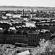 View Of Edinburgh New Town Skyline Towards The Docks At Leith And Firth Of Forth From Calton Hill Ed Art Print