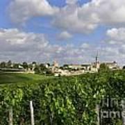 Village And Vineyard Of Saint-emilion. Gironde. France Art Print