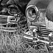 Vintage Frazer Auto Wreck Front Ends  Art Print