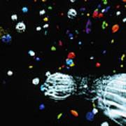 Visualisation Of Primordial Quark/gluon Plasma Art Print