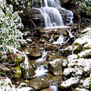 Winter Waterfall Back Fork Of Elk River Art Print