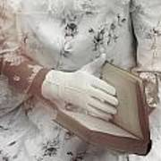 Woman With A Book Art Print