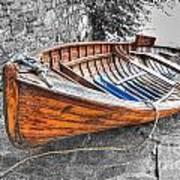 Wood Boat Art Print
