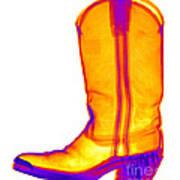 X-ray Of A Cowboy Boot Art Print