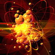Subatomic Particles Abstract Art Print