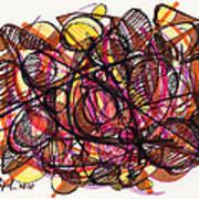 2010 Abstract Drawing 24 Art Print