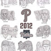 2012 Phightin' Phils Art Print by Chris  DelVecchio