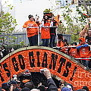 2012 San Francisco Giants World Series Champions Parade - Dpp0004 Print by Wingsdomain Art and Photography