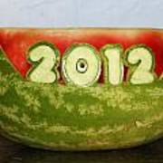 2012 Watermelon Carving Art Print