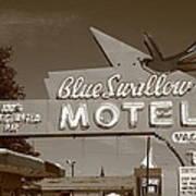Route 66 - Blue Swallow Motel Art Print