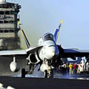 An Fa-18c Hornet Launches Art Print