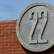 22 Sign Art Print