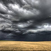 Storm Clouds Saskatchewan Art Print