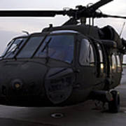 A Uh-60 Black Hawk Helicopter Art Print