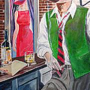 Bar 2 Art Print by Kostas Dendrinos