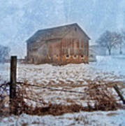 Barn In Winter Art Print