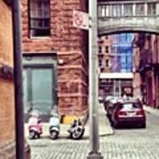 3 Bikes 1 Car Art Print