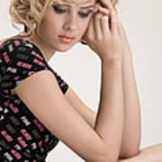 Blond Lady Art Print