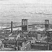 Brooklyn Bridge, 1883 Art Print