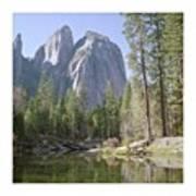 3 Brothers. Yosemite Art Print