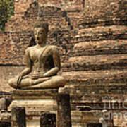 Buddha At Sukhothai Art Print