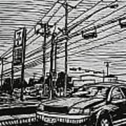 Burnet Road Art Print