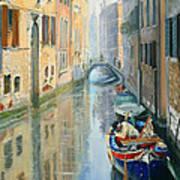 Canals Of Venice  Art Print