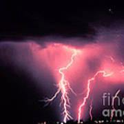 Cloud-to-ground Lightning Art Print