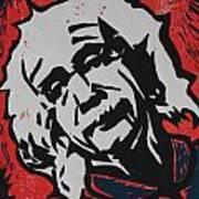 Einstein 2 Art Print by William Cauthern