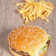 Fat Hamburger Sandwich Art Print